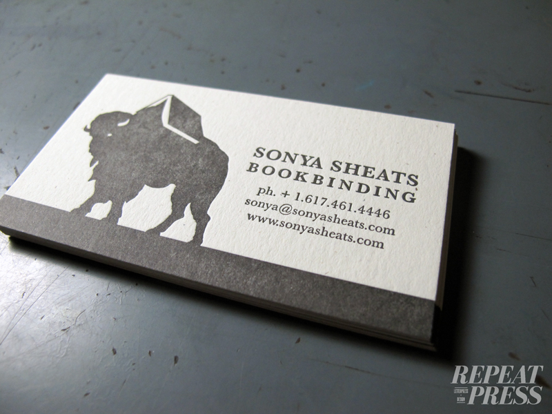 Business card repeat press custom letterpress printing after discussing ideas for business cards colourmoves